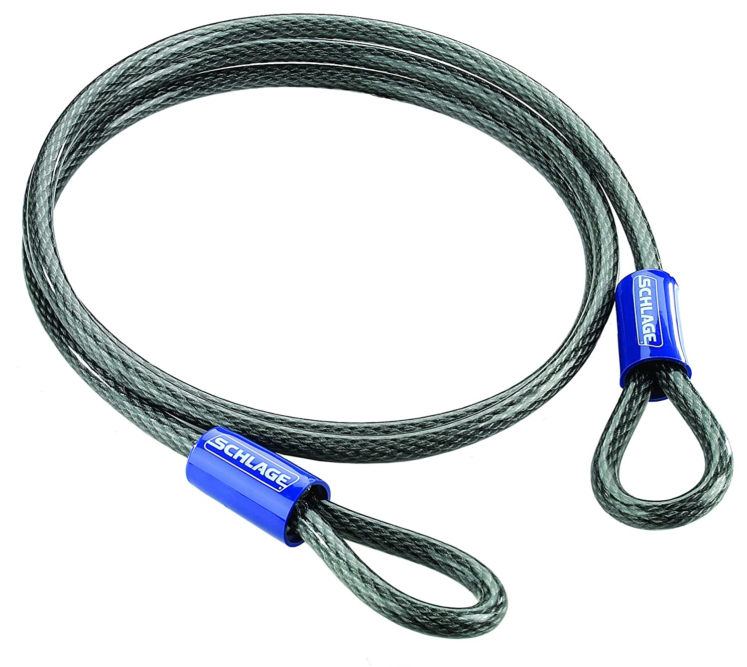 Schlage 999256 Flexible Steel Cable, 7-Foot by 0.375-Inch