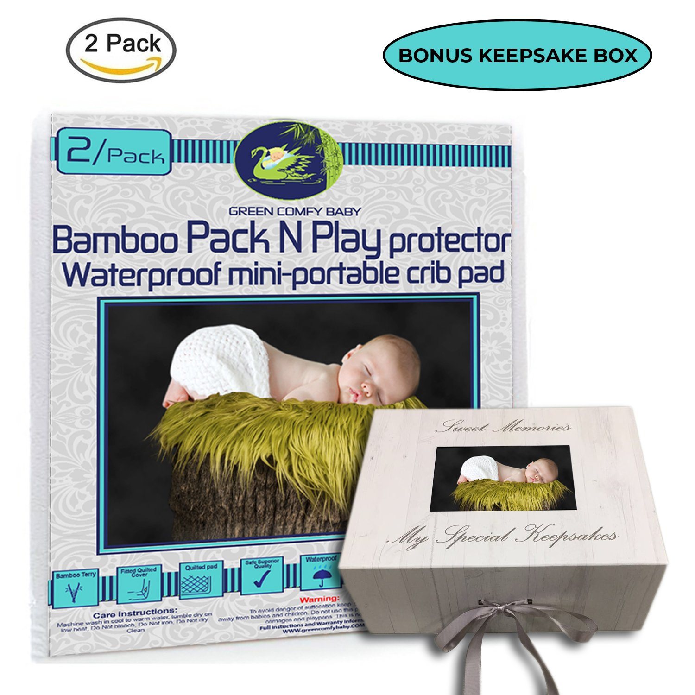 Amazon Com Crib Mattress Protector Pad 2 Pack Organic