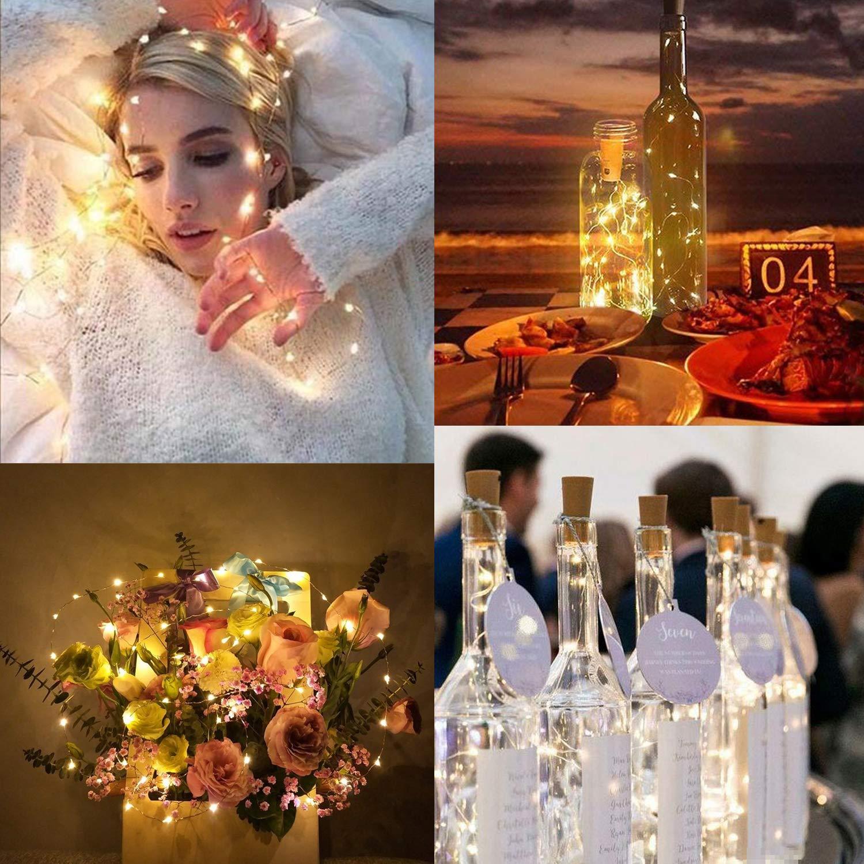 9 x 20 LED botellas de luz, Decoración Boda Vino Botella luces, luces luz cadenas Party Decoración romántica, corcho botellas Luz [2018 Nueva versión] ...