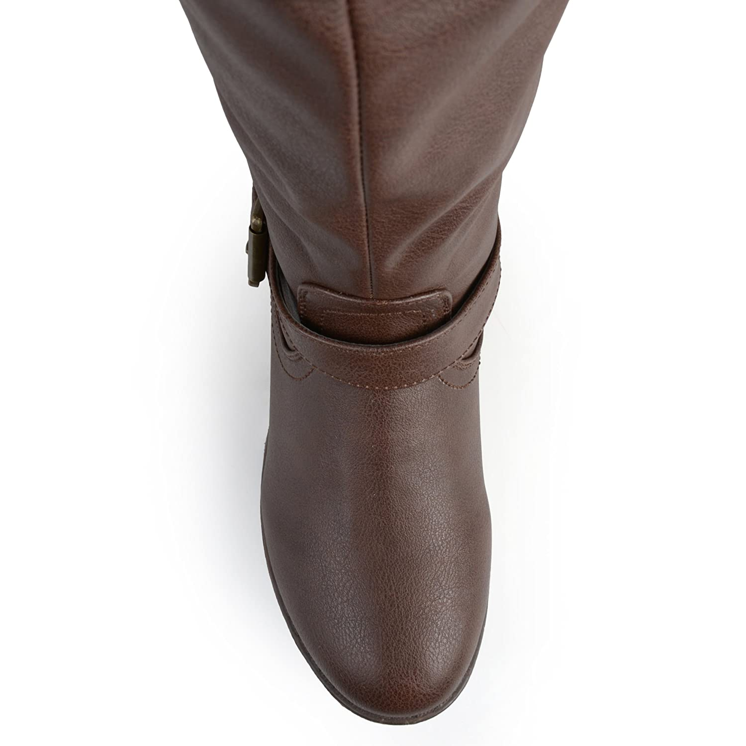 Journee Collection Womens Regular Sized, Wide-Calf and Extra Wide-Calf Studded Knee-High Riding Boot B00MI6FOF0 7 W US|Brown