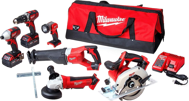 Milwaukee 2696-26 M18 6-Tool Cordless Combo Kit