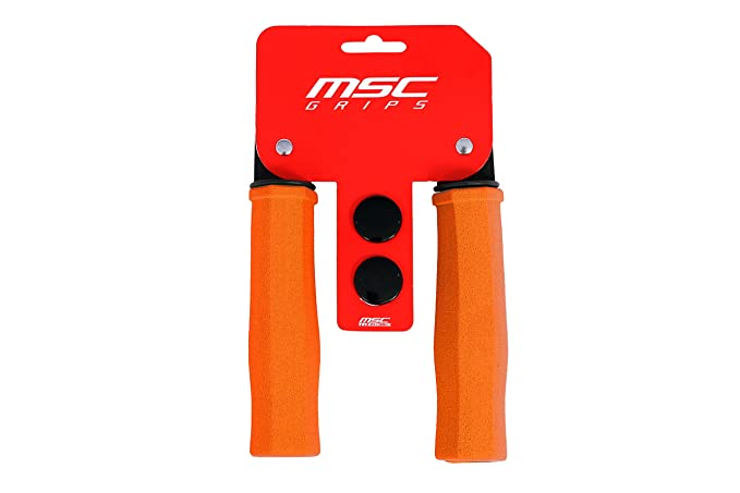 MSC Bikes GRIP05 Puños de Espuma, Naranja, 125 mm: Amazon.es ...