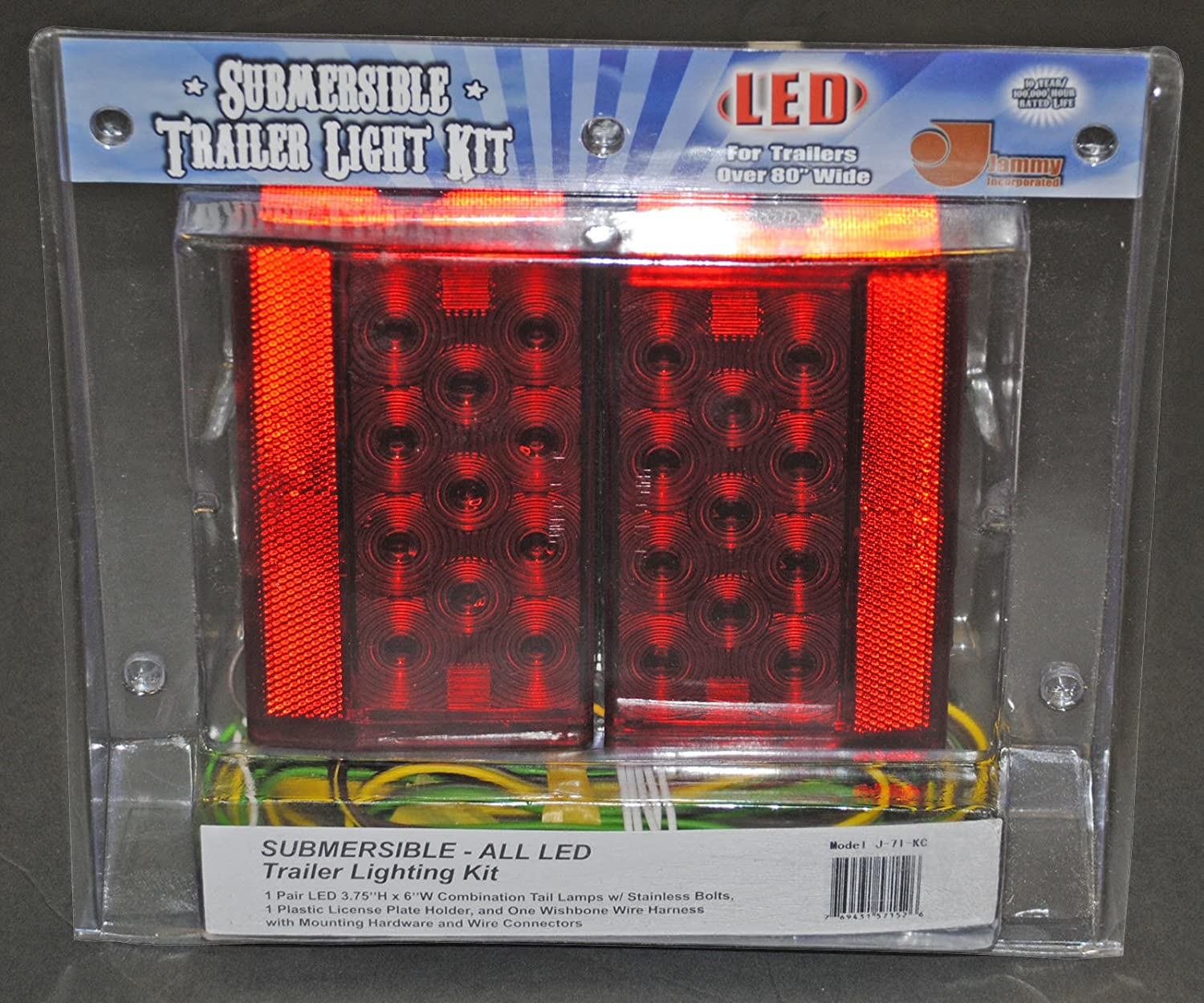 Boat Trailer Led Light Kit For Over 80 Wide Marine Shorelander Wiring Harness Trailers Automotive