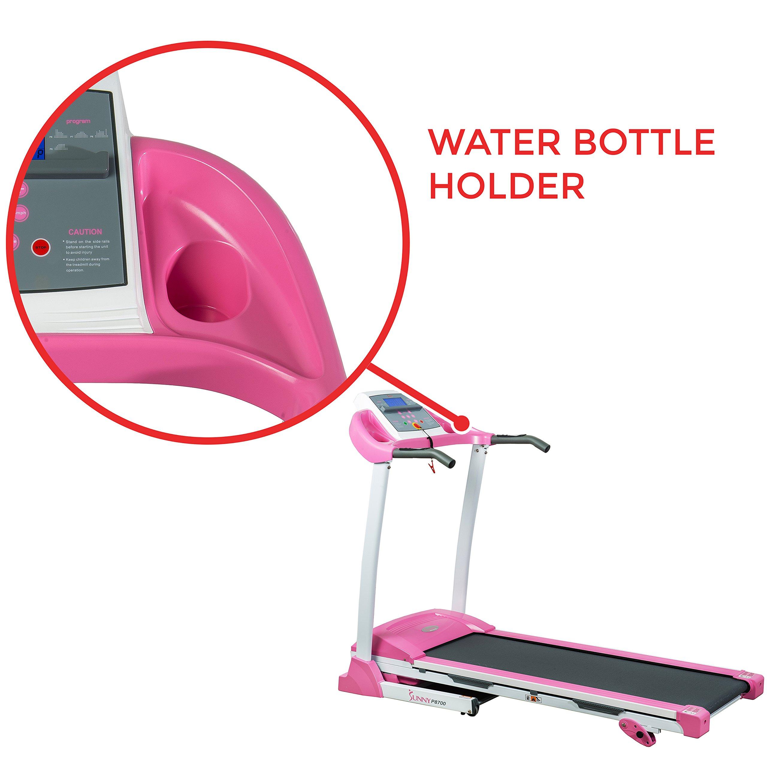 Sunny Health & Fitness P8700 Pink Treadmill by Sunny Health & Fitness (Image #7)