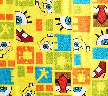 amazon com 1 yard spongebob squarepants funny faces squared