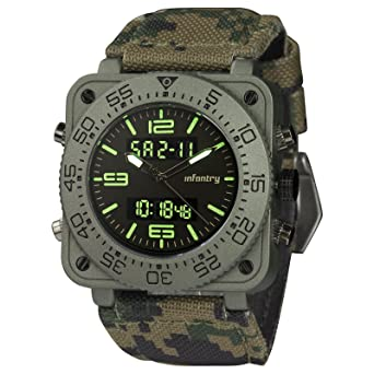 amazon com infantry mens waterproof camo tactical military infantry mens waterproof camo tactical military multifunction digital sport camouflage wrist watch