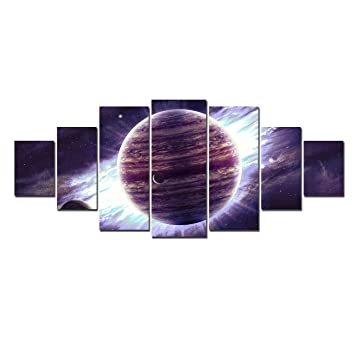 Startonight huge canvas wall art purple planet usa large home decor dual view surprise