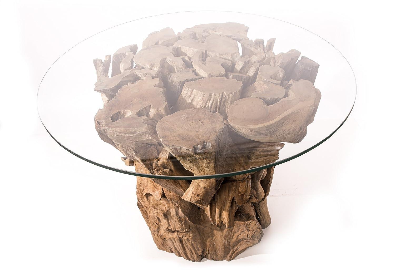 Terassen- und Garten Tisch ~ ZIZAR ~ Höhe 80 cm - Unikat aus Wurzelholz