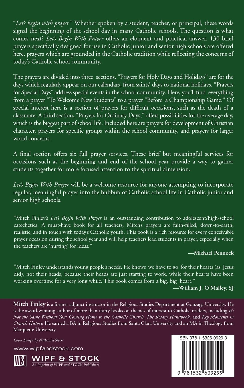 We start the school year with a prayer for students