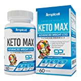 Keto Max GoBHB Supplement for Women and Men - Boost Energy & Focus, Support Metabolism, Manage Cravings - Utilize Fat for Fuel with Ketosis - Keto Diet Pills - 60 Capsules