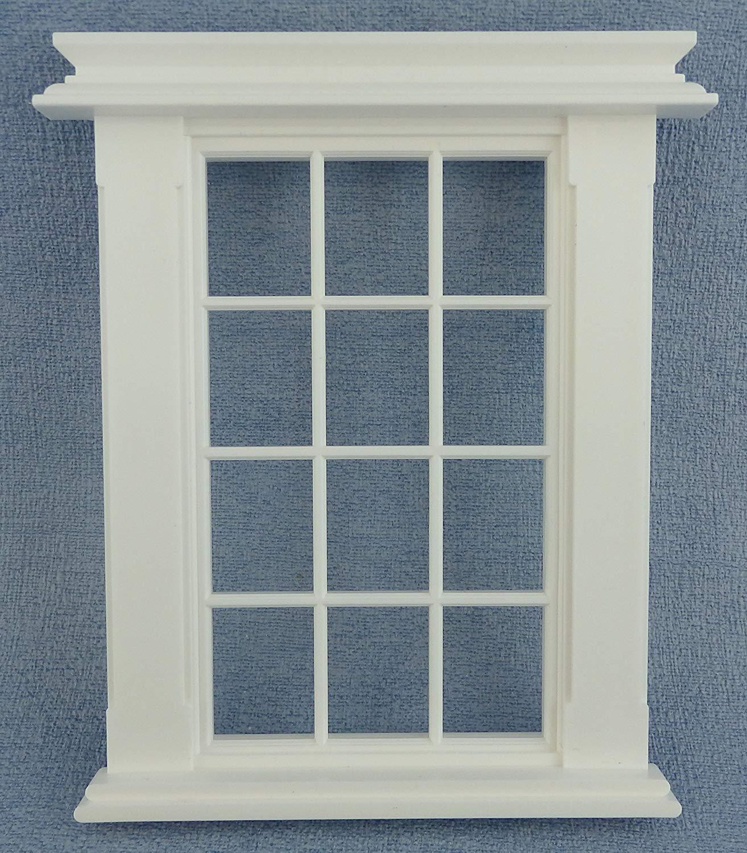 Melody Jane Dolls House Miniature Plastic Georgian Window Frame 9 Pane 1:24