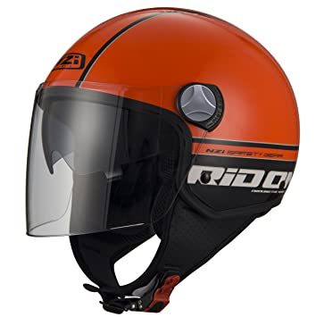 NZI Cascos Abiertos, Reid On Orange Black, Talla M