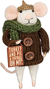 Primitives by Kathy PBK Fall Decor - Turkey and Pie Thanksgiving Mouse