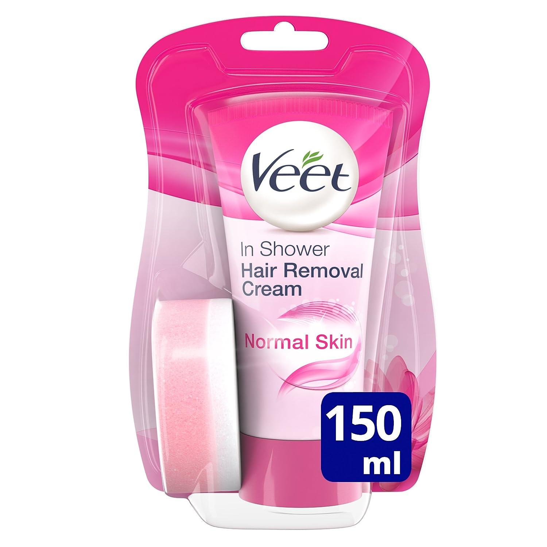 Veet In Shower Hair Removal Cream Normal Skin with Lotus Milk & Jasmine (150ml) 84282