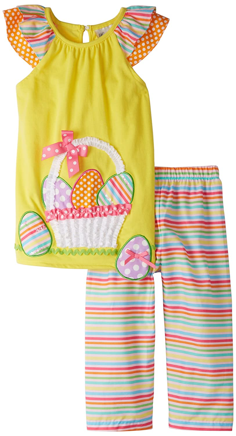 Rare Editions Little Girls Easter Egg Legging Set