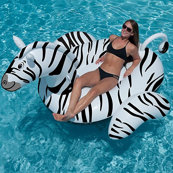 Amazon.com: Swimline Wildthings Zebra Swimming Pool Floats Combo Pack: Toys & Games