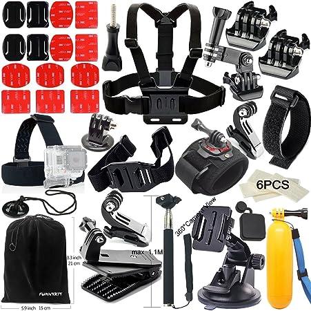 funnykit accesorios de 40 en 1 Kit de accesorios para GoPro ...