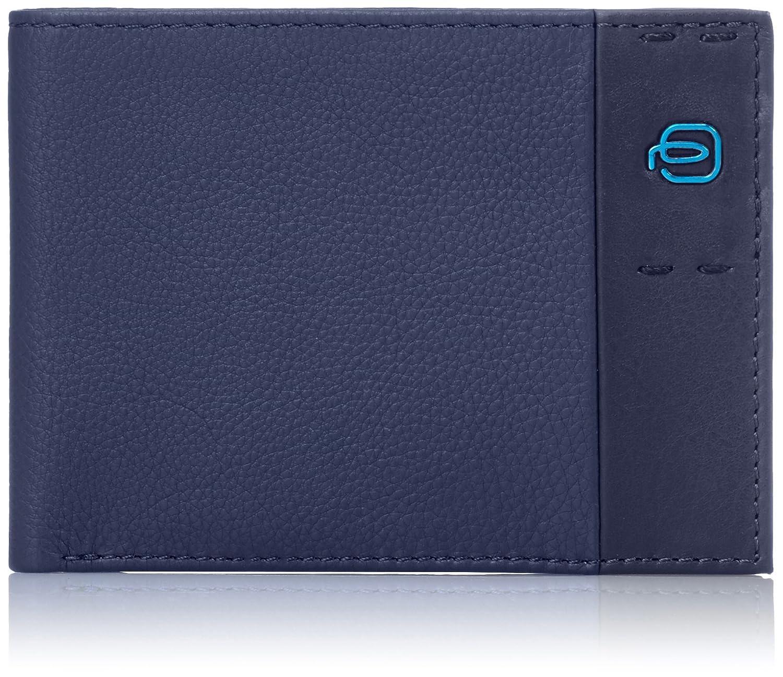 Piquadro Pulse Portafoglio, Pelle, Blu, 13 cm PU257P15/BLU3