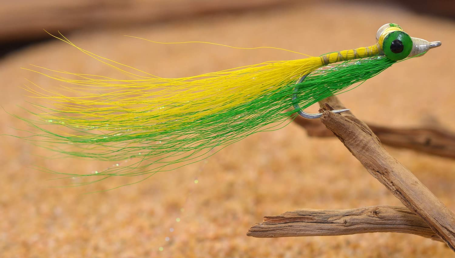 6 flies Clouser Minnow Black Red Fly Fishing Flies Bass, Trout, Redfish