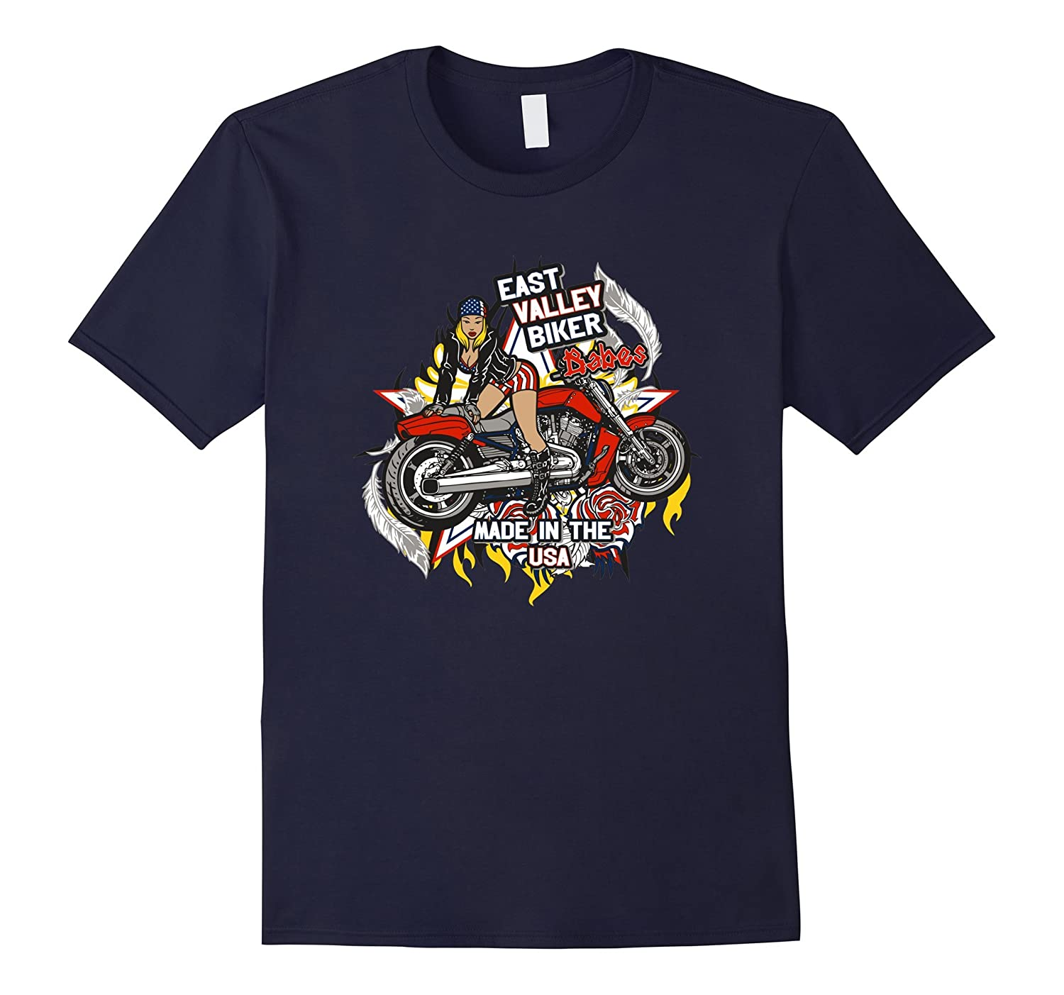 Biker Babes Made In The USA T Shirts For Women Graphic Tees-Art