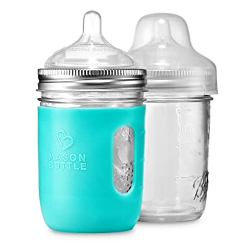 f1f9b79b3a1 Mason Bottle DIY Kit  BPA-Free Glass Baby Bottles You Can DIY Using Mason  Jars From Home