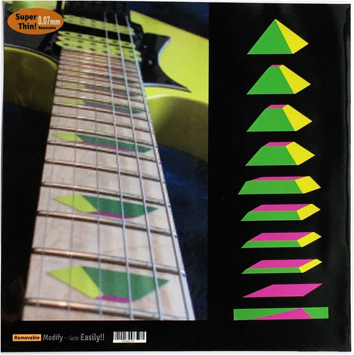 Fretboard Markers Inlay Sticker Decals for Guitar /& Bass Ricky Triangle