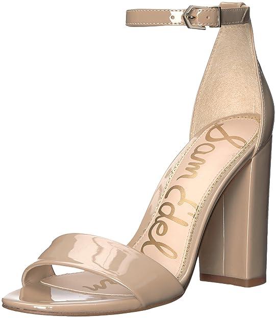 Sam Edelman Women's Yaro Heeled Sandal, Classic Nude Patent, 7.5 M US