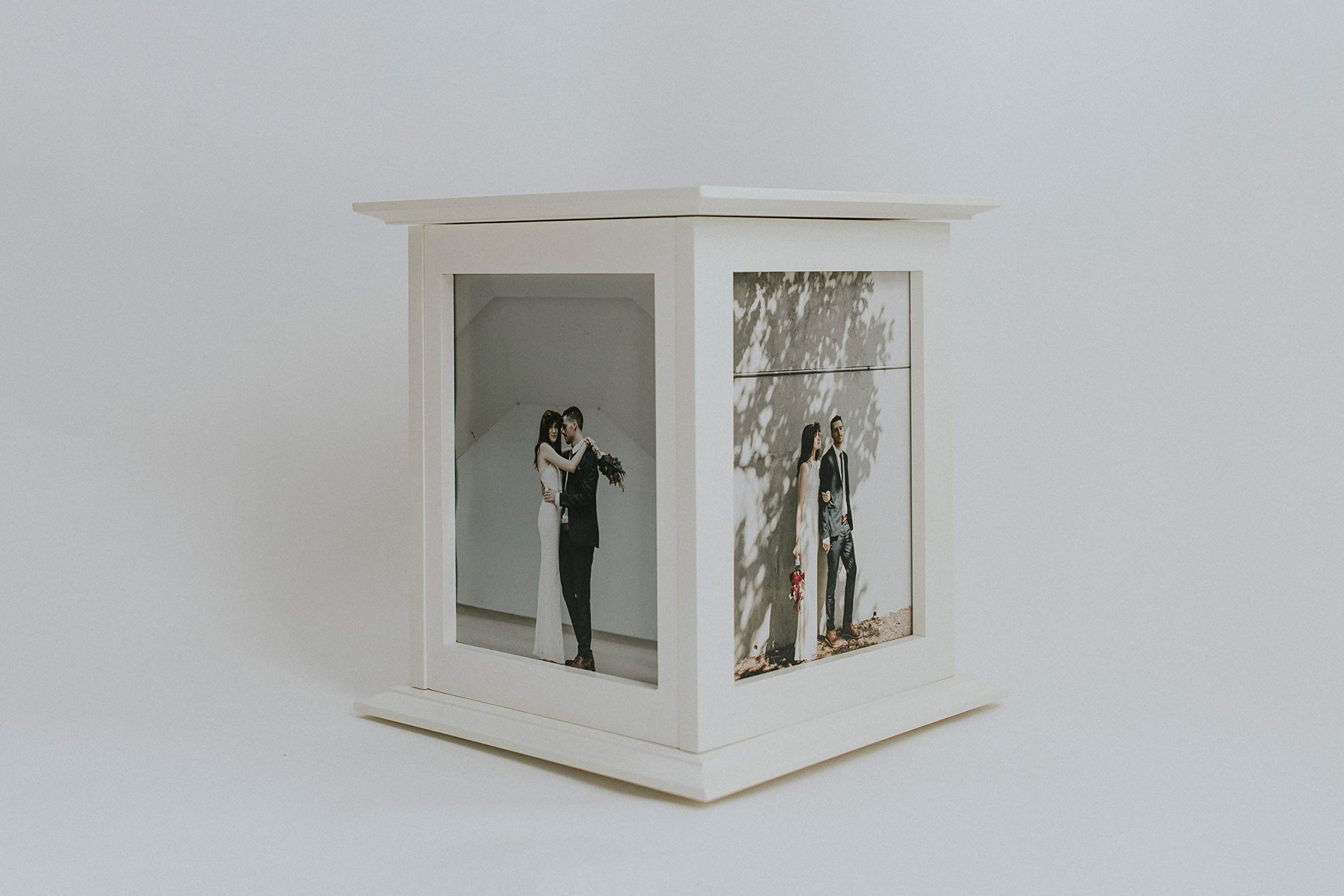 Wedding Card Box - Rotating The Perfect Card Box in Ivory