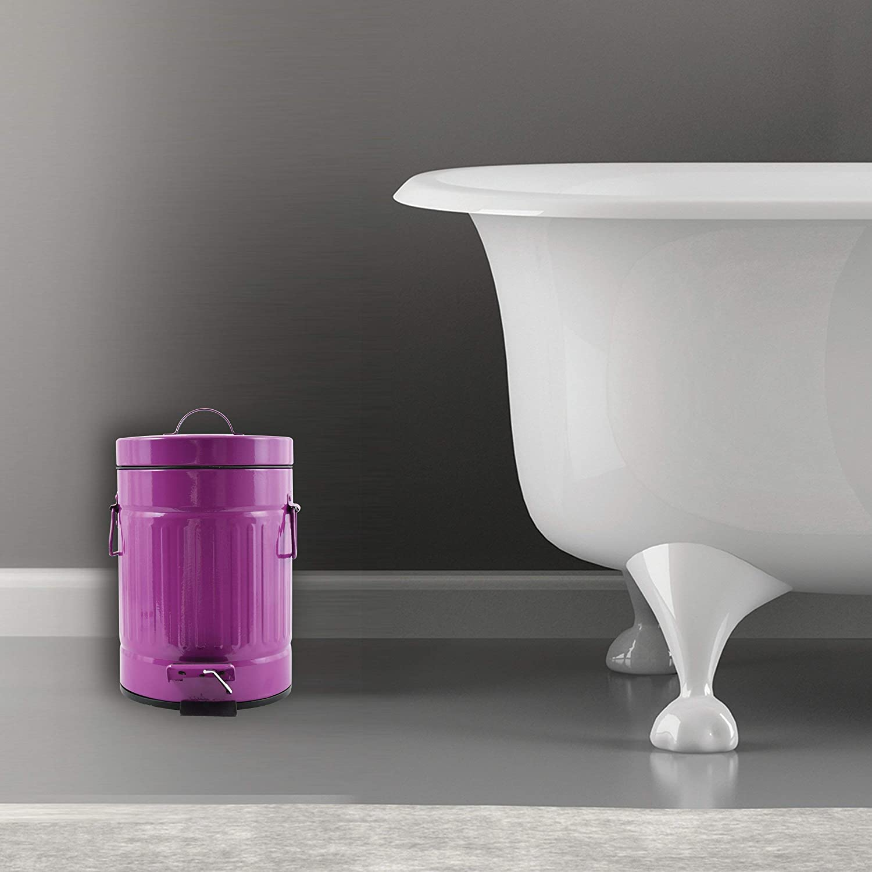 MSV Poubelle /à p/édale Unique Violet