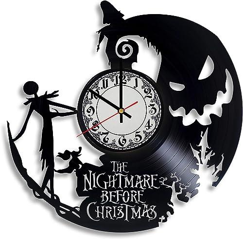 Lepri4ok The Nightmare Before Christmas Vinyl Record Wall Clock