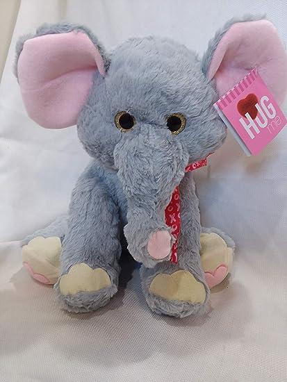 Blue Big Teddy Bear, Amazon Com Hugfun 14 5 Elephant Plush Stuffed Animal Zoo Jungle Gray Pink Hug Fun Soft Cuddly Toys Games