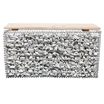 Cool Dema Douglas Fir Wood Bench Gabions Gabion 100X50X30 Cm Seat Bralicious Painted Fabric Chair Ideas Braliciousco