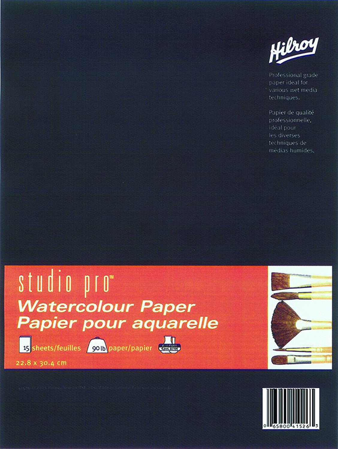 Studio Pro 41526 Watercolor Book, 9x12-Inch, 90-Pound Acid Free Paper, 15-Sheet