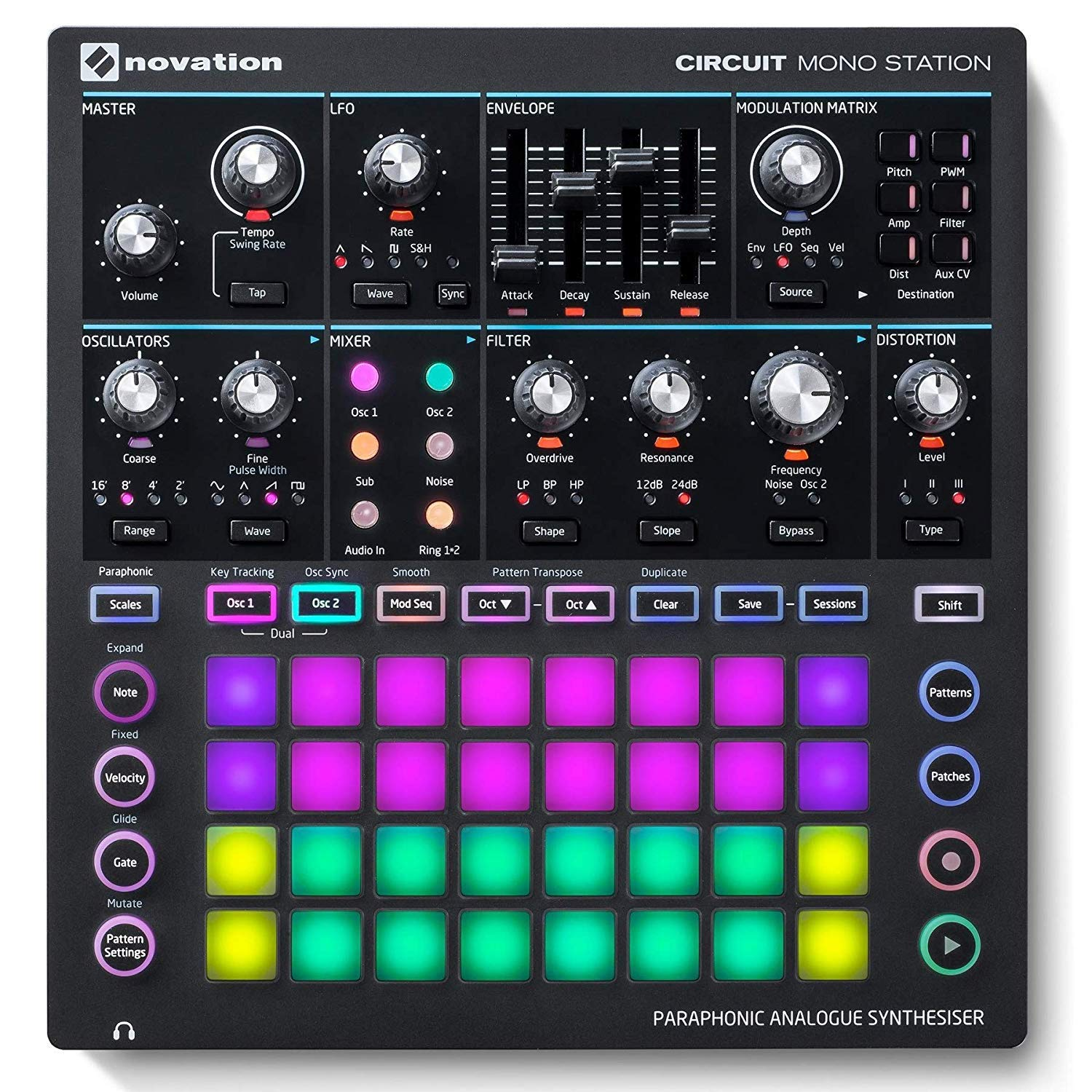 Novation Circuit Mono Station Paraphonic Analog Synthesizer with Microfiber and 1 Year Everything Music Extended Warranty by Novation (Image #3)