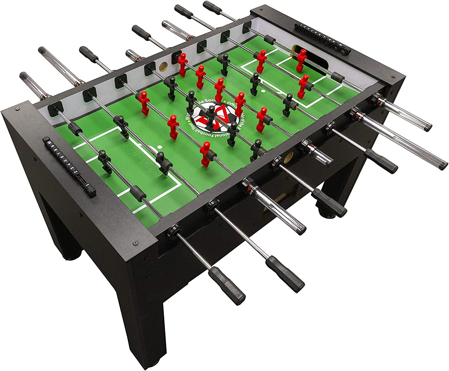 Warrior Table Soccer Pro Foosball Table 2020 Model 56 Inch Black Toys Games