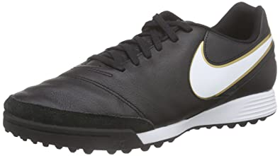 69299c528 Nike Men's Tiempo Genio II Leather TF Turf Soccer Cleats (Black) ...