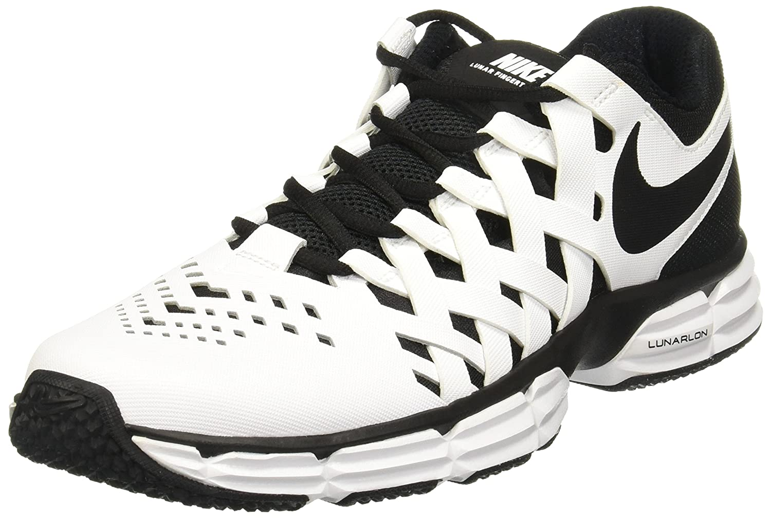 NIKE Men's Lunar Fingertrap Cross Trainer B01HH8O97M 7 D(M) US|White/Black