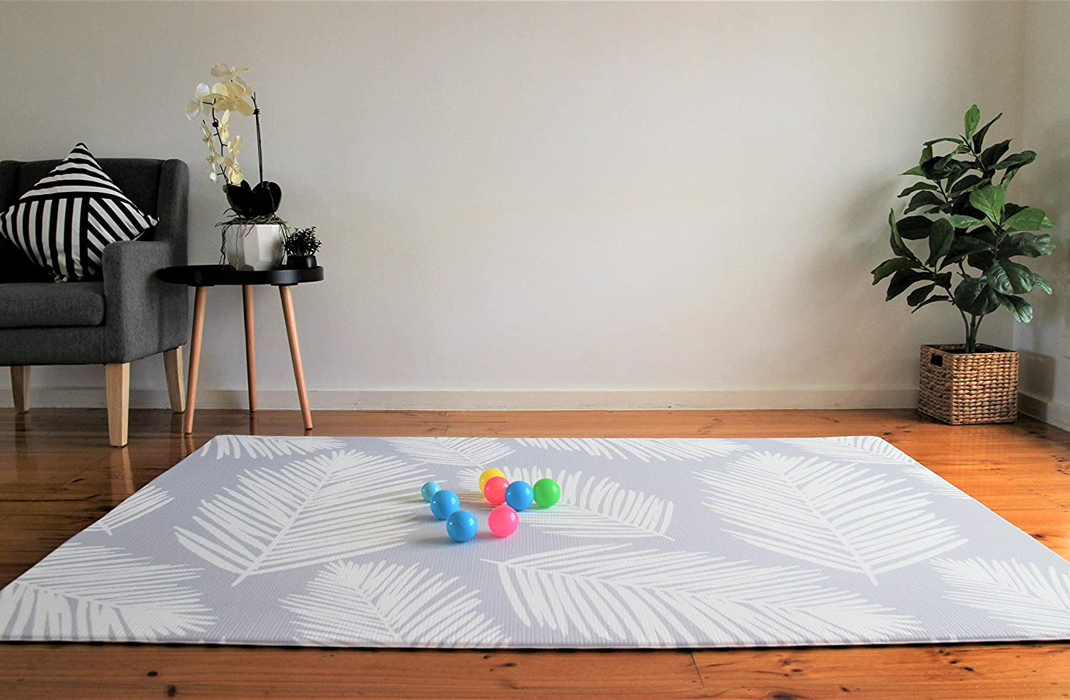 Nursery Rug Skull Chill Tropical Holiday Summer Baby Crawling Mat Non-Slip Play mat Soft Tent Mat for Childrens Bedroom 70x70cm