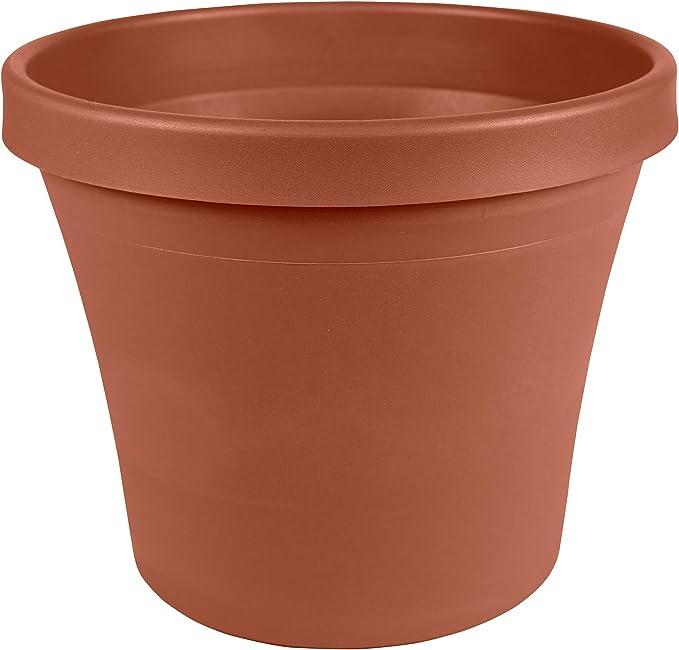 Bloem Terra Plastic Pot Planter 4 Terra Cotta 20 50004c Planters Garden Outdoor