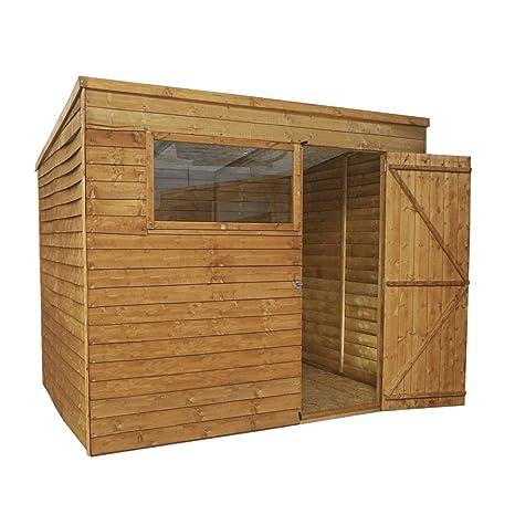 Waltons - Caseta de madera solapada (techo plano, 2,44 x 1,