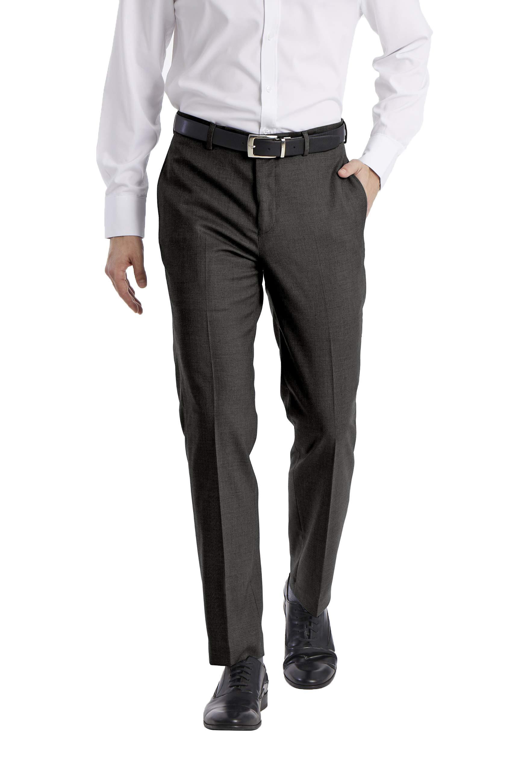 Calvin Klein Men's Slim Fit Stretch Suit Separates-Custom Jacket & Pant Size Selection, Charcoal Pant, 33W x 32L by Calvin Klein