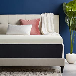 LUCID Traditional Plush-Ventilated-Versatile-Conforming Support Mattress Topper, California King