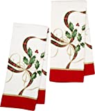 Lenox Holiday Nouveau Kitchen Towels - Set of 2 (Printed Tartan Holly)