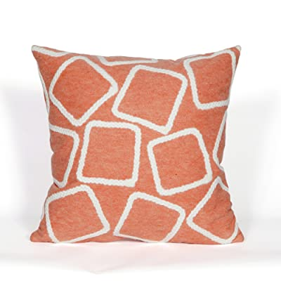 "Liora Manne Visions I Squares Indoor/Outdoor Pillow, 20"" X 20"", Orange: Kitchen & Dining"