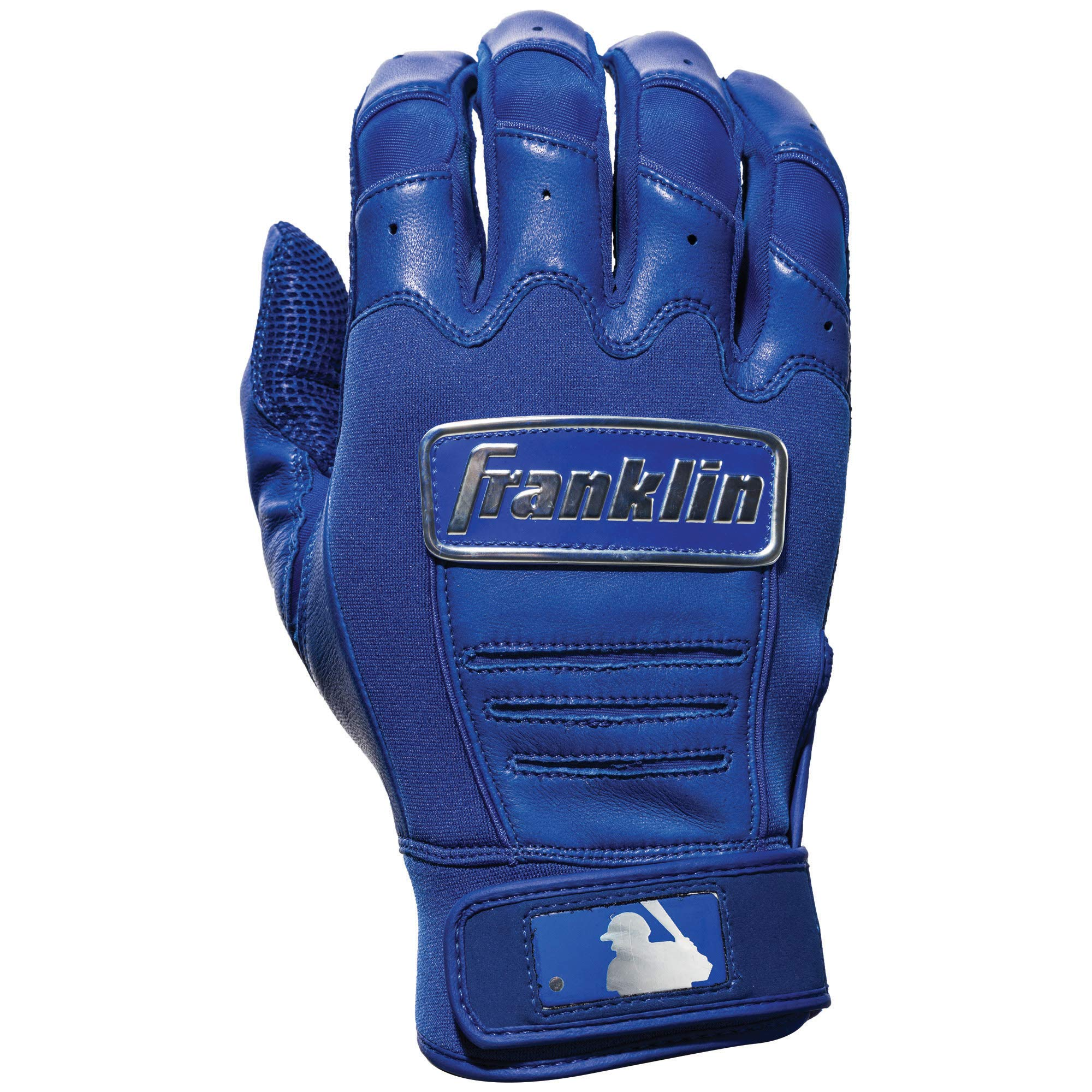 Franklin Sports CFX Pro Full Color Chrome Batting Gloves - Royal - Adult Small by Franklin Sports (Image #2)
