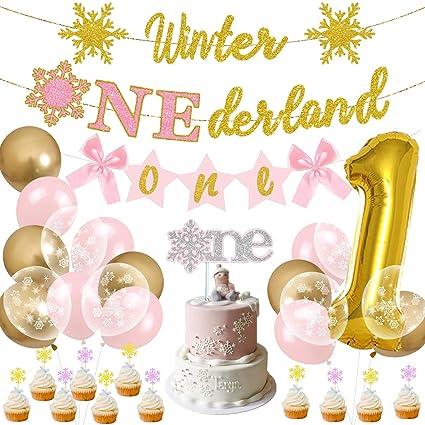 Winter Onederland Birthday Decorations Royal Blue Gold Glitter Printables Winter Onederland Boy First Birthday Party Decorations Party Set