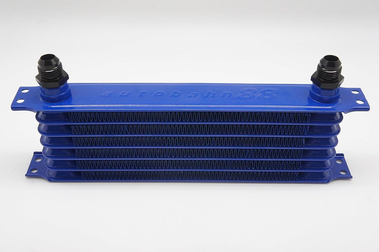 Autobahn88 olio universale serbatoio radiatore, 7 righe, Core 11.8x3.74x2(300x95x50mm), include: 2 x 10ANxM22 adattatore (blu): Amazon.es: Coche y moto