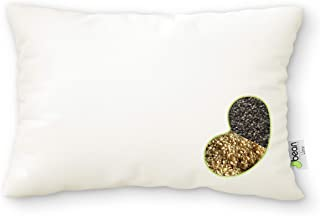 """product image for WheatDreamz Queen Pillow - 20"""" x 30"""" - Organic Cotton Zippered Shell with 1 Side Organic Millet and 1 Side Organic Buckwheat Fillings - Made in USA"""