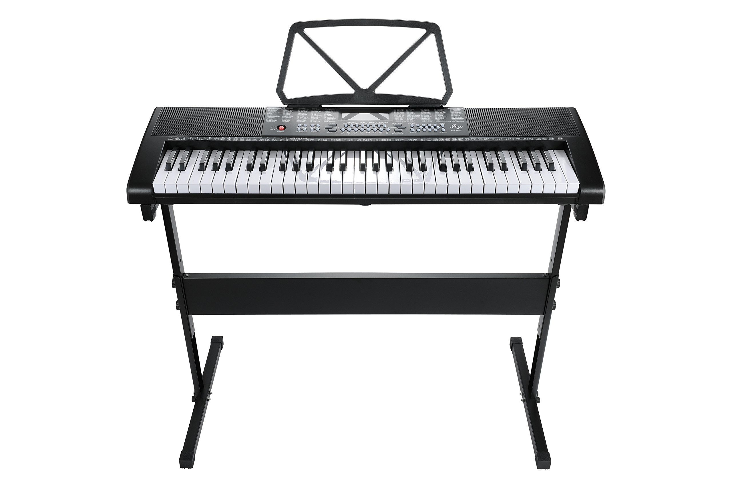 ELE-LIFE EL-57 Black 61-Key Digital Portable Keyboard Piano Electronic With Stand & Power Supply