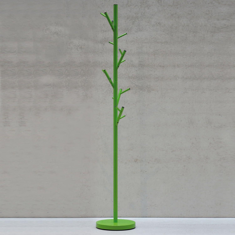 Jan Kurtz Tree Kleiderständer, Stahl, grün, 28 x 28 x 170 cm